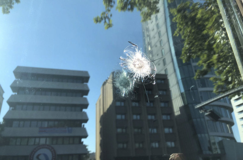 Apšaudyta JAV ambasados Ankaroje apsaugos būdelė
