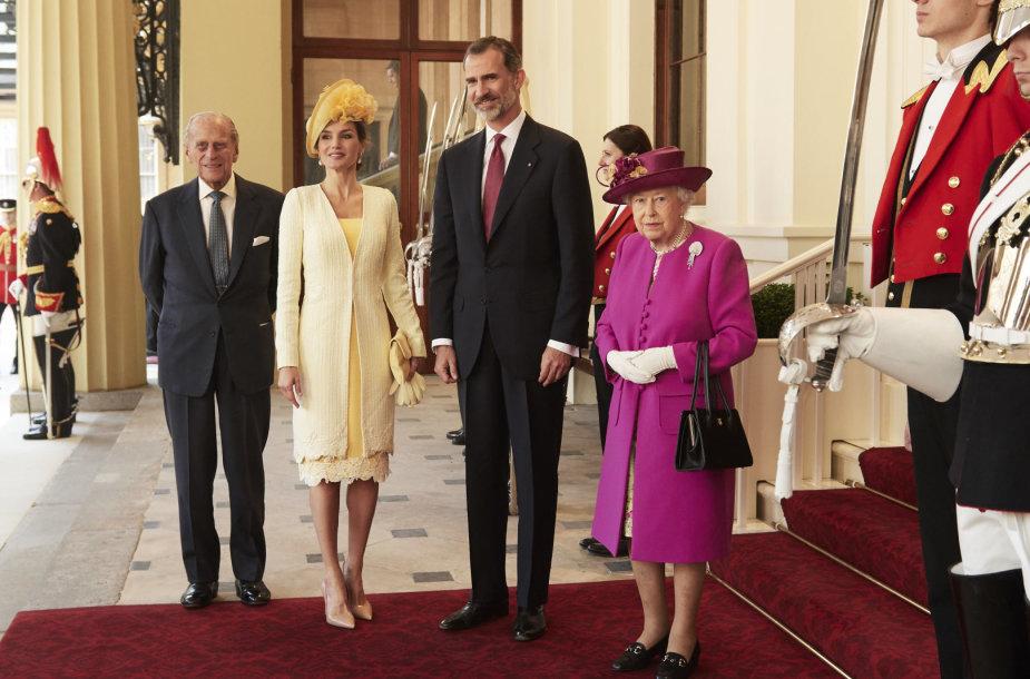 Ispanijos karaliaus ir karalienės sutiktuvės Londone
