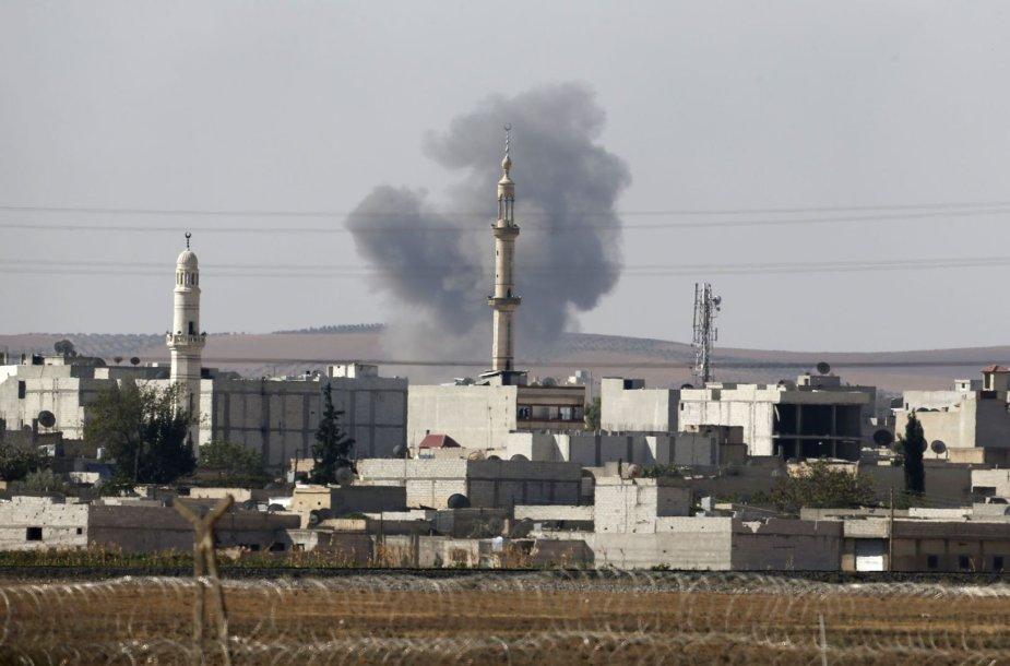 Džihadistai jau kontroliuoja daugiau negu trečdalį Kobanės