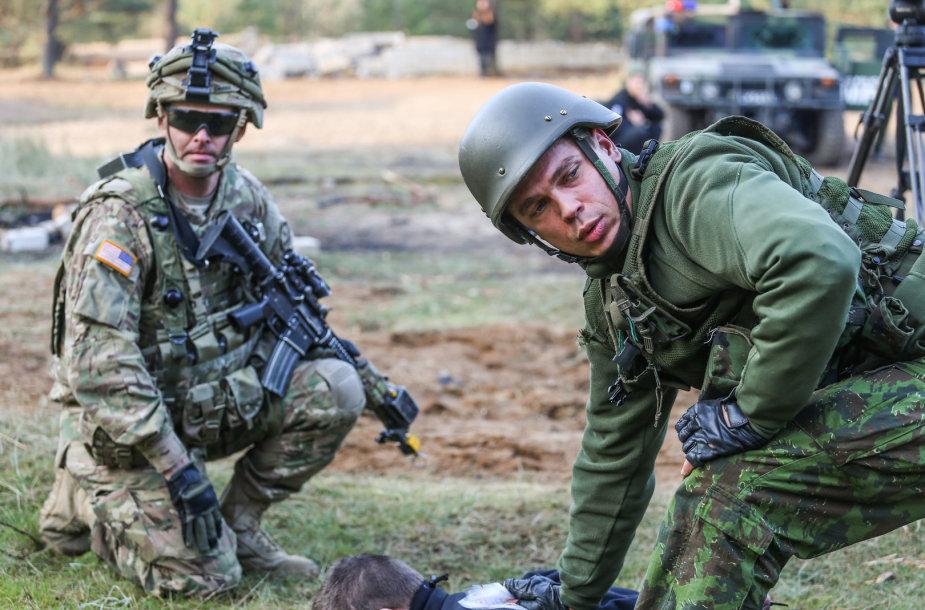 Greitojo reagavimo pajėgoms priklauso ir Karo policijos elementai.