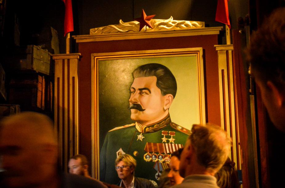Stalino portretas Oskaro Schindlerio muziejuje Krokuvoje