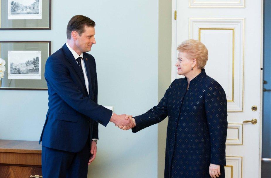 Kęstutis Mažeika ir Dalia Grybauskaitė