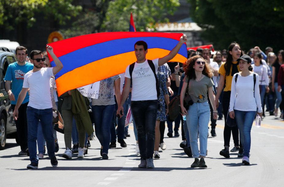 Protestuotojai Jerevane