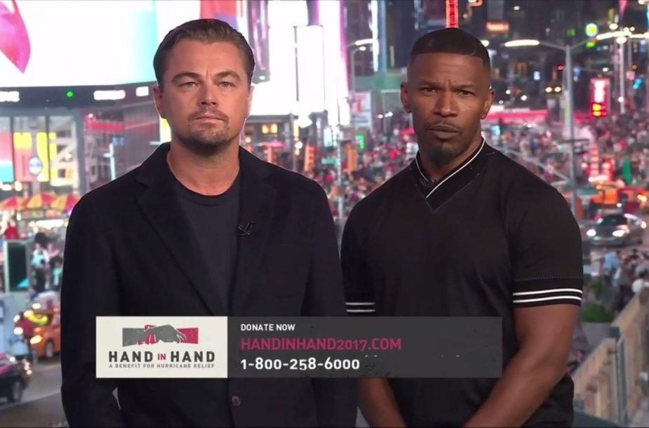 Leonardo DiCaprio ir Jamie Foxxas