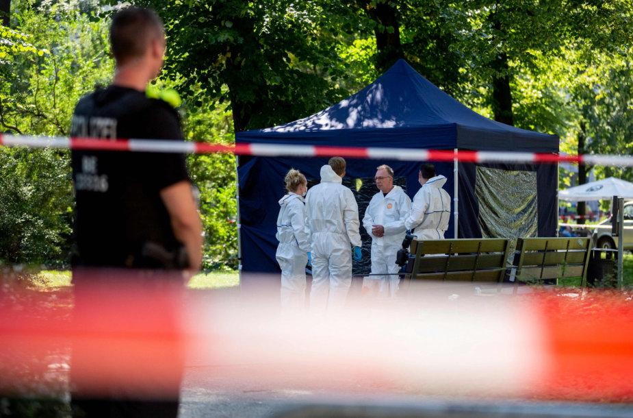 Policija Z.Changošvilio nužudymo vietoje