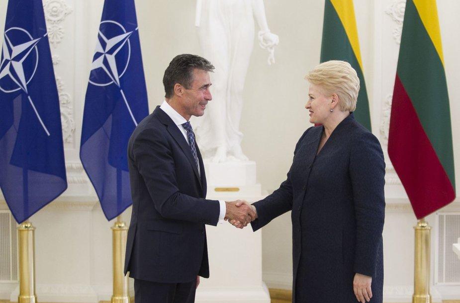 Andersas Foghas Rasmussenas ir Dalia Grybauskaitė