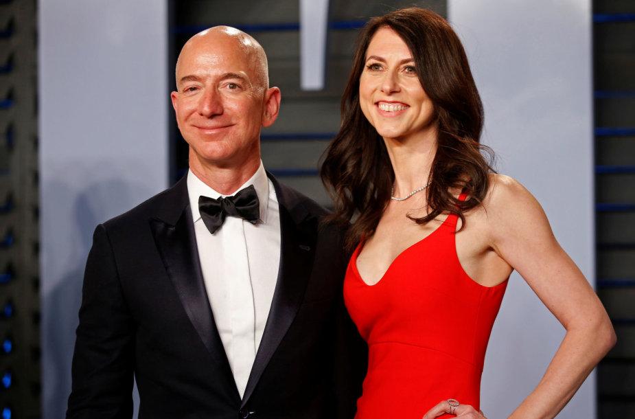 Jeffas ir MacKenzie Bezos