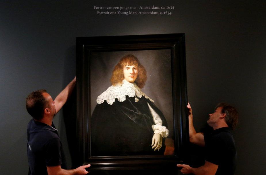 Amsterdame eksponuojamas Rembrandto teptukui neseniai priskirtas paveikslas