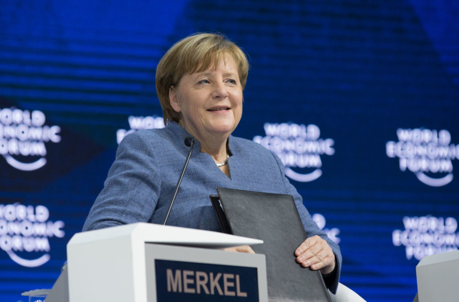 Angela Merkel Davose