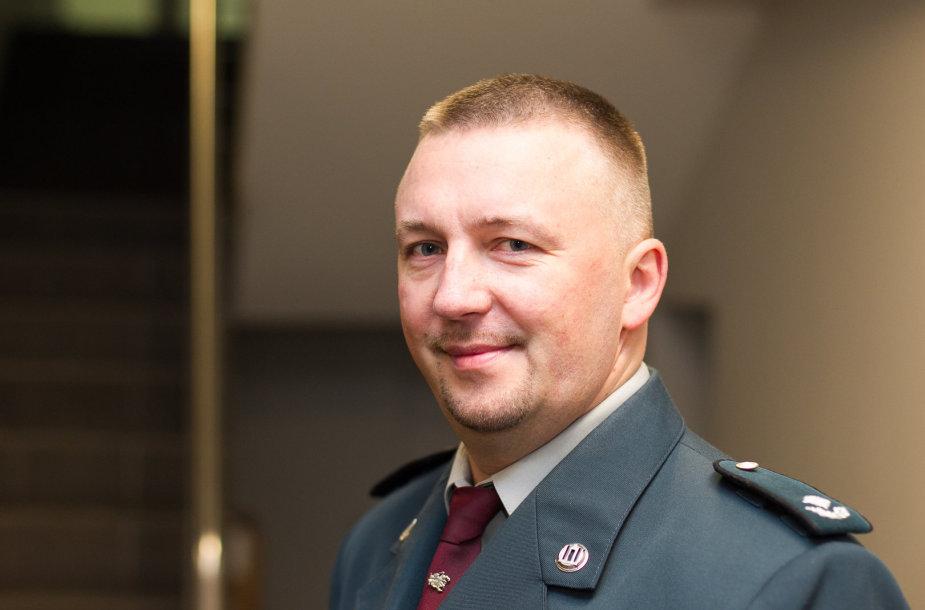 Nusikaltimų nuosavybei tyrimo skyriaus viršininkas Sigitas Šemis.