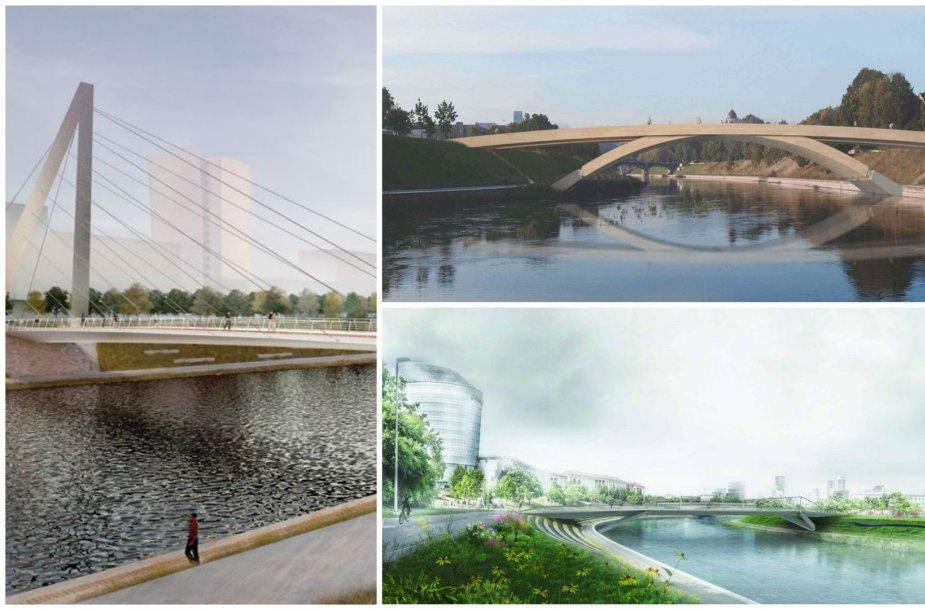 Naujo tilto virš Nerį architektūriniai pasiūlymai
