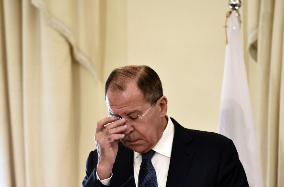 Rusijos diplomatijos vadovas Sergejus Lavrovas