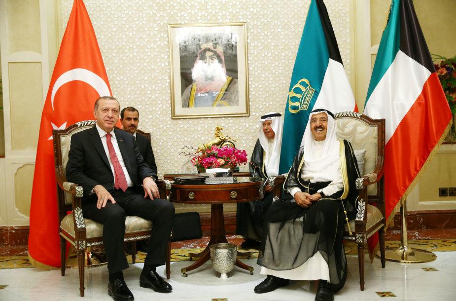 Recepas Tayyipas Erdoganas ir Kuveito emyras Sabahas al Ahmedas al Sabahas