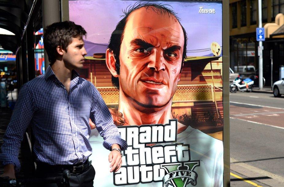 "Žaidimo ""Grand Theft Auto V"" reklama"