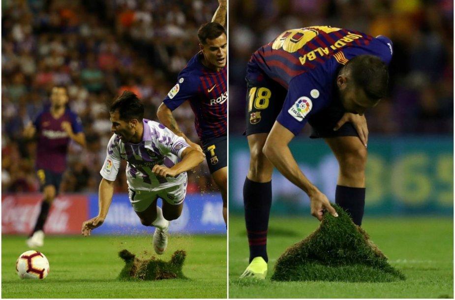 """Veja iro Valjadolido stadione per rungtynes su """"Barcelona""""."""