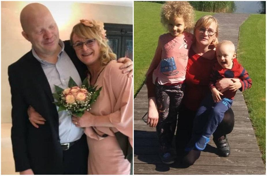 Birutė Žitkauskaitė-Nhafuba su šeima