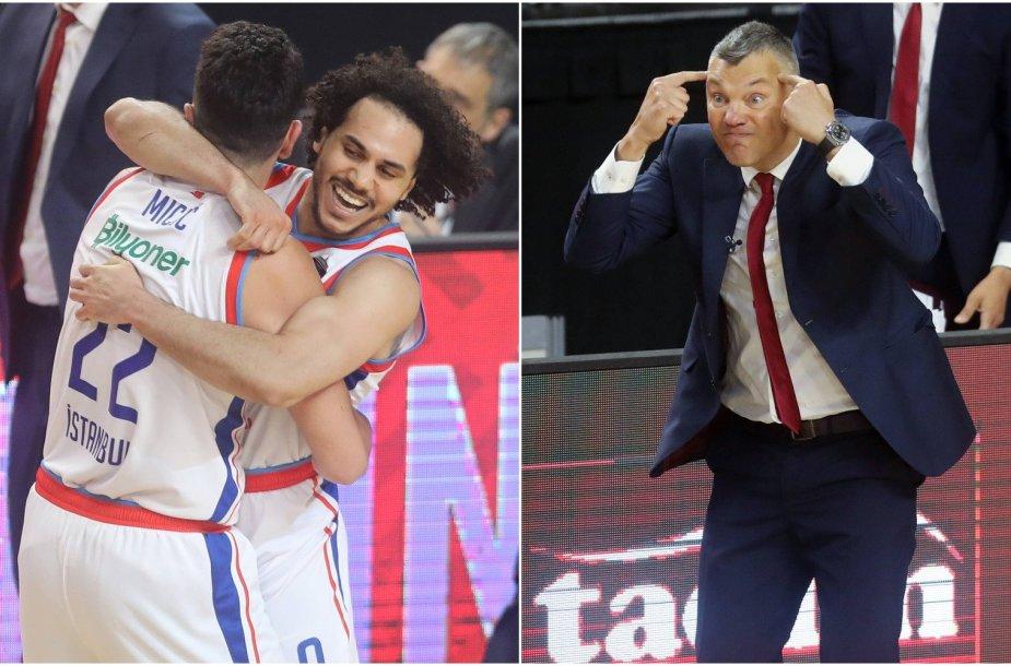 """""""Anadolu Efes"""" krepšininkai sutrukdė Šarūnui Jasikevičiui jau per pirmą sezoną prie Barselonos komandos vairo užkopti į pačią Eurolygos viršūnę."""