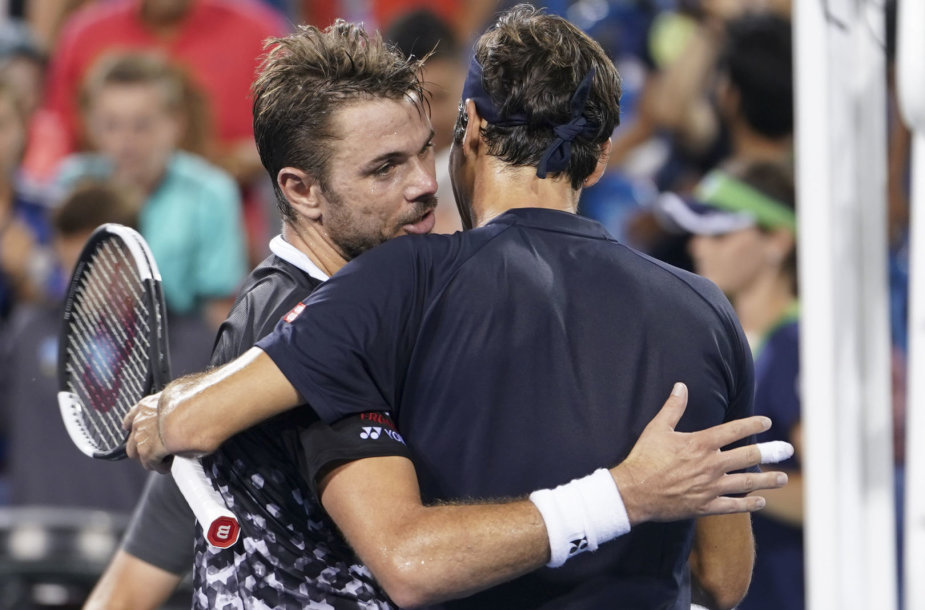 Stanas Wawrinka ir Rogeris Federeris