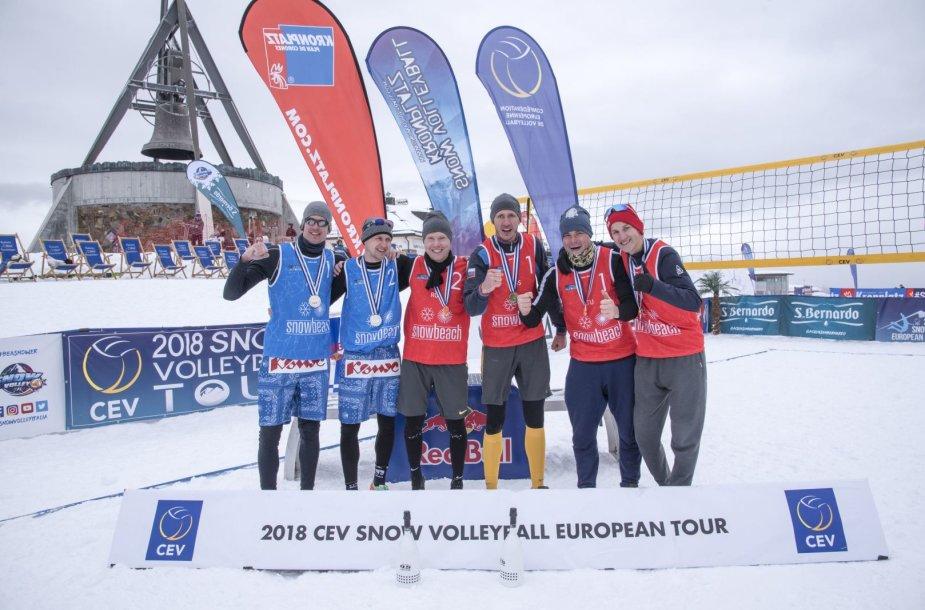 Lietuviai iškovojo sniego tinklinio medalius