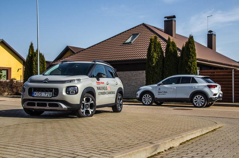 """""""Citroën C3 Aircross"""" prieš """"Volkswagen T-Roc"""": miesto džiunglių užkariautojai"""