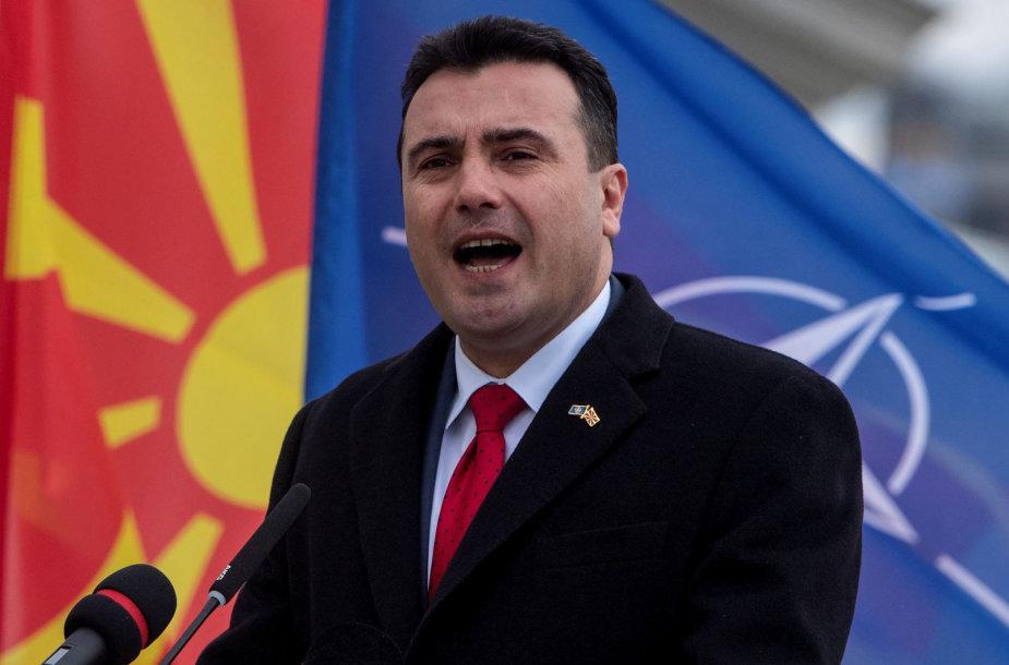 Šiaurės Makedonijos premjeras Zoranas Zajevas