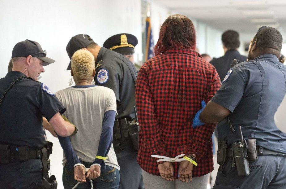 Kapitolijaus policija suėmė 95 protestuotojus