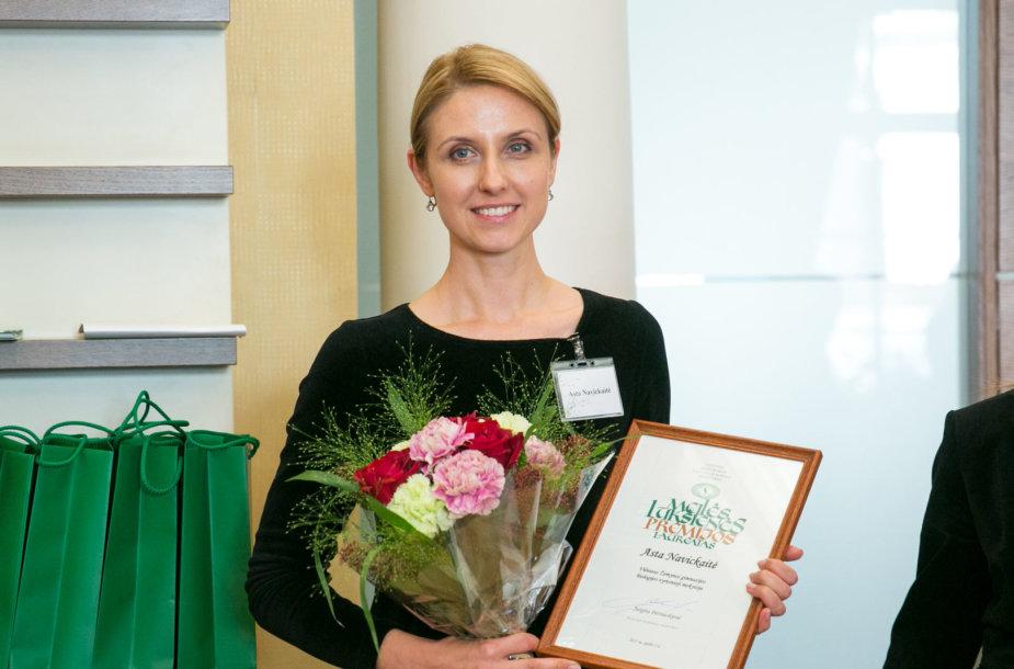Meilės Lukšienės premijos 2017 laureatė Asta Navickaitė