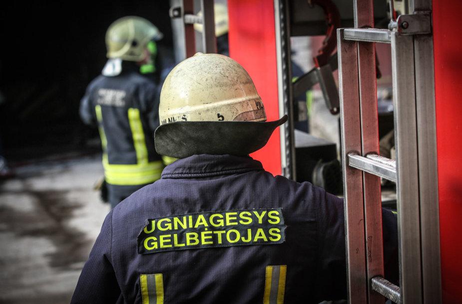 Vilniaus autoservise kilo nedidelis gaisras
