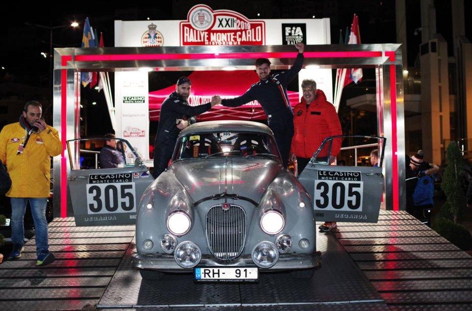 """""""Flameris Racing"""" komandos finišas istoriniame Monte Karlo ralyje"""