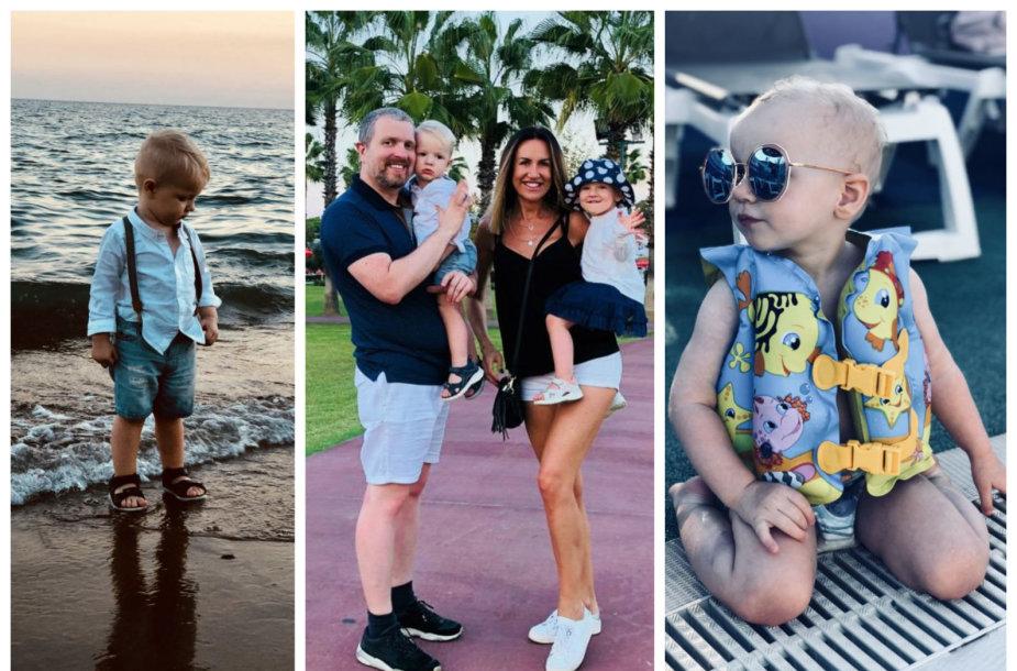Katažinos ir Deivydo Zvonkų šeimos atostogų akimirka