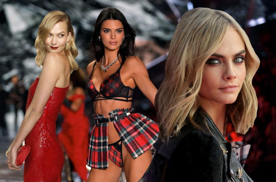 Daugiausiai uždirbantys modeliai – Karlie Kloss, Kendall Jenner ir Cara Delevingne