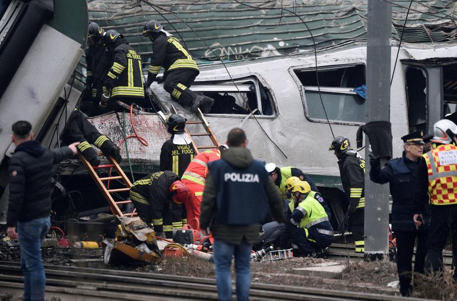 Traukinio avarija prie Milano