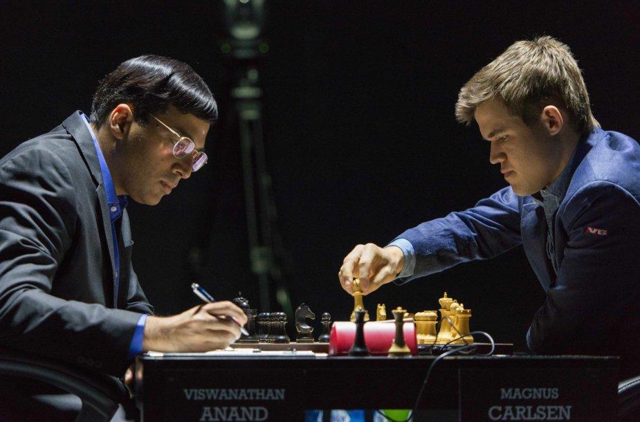 Višvanatanas Anandas ir Magnusas Karlsenas