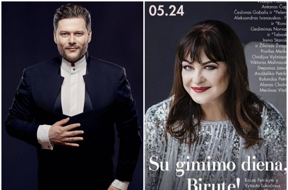 Merūnas Vitulskis; Birutės Petrikytės koncerto plakatas