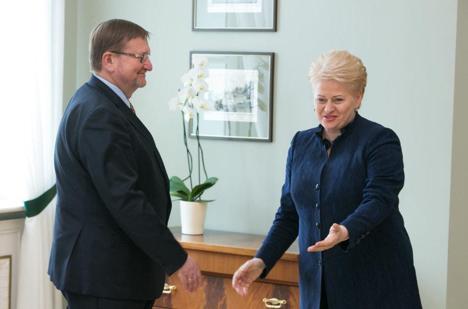 Dalia Grybauskatė ir Juozas Bernatonis