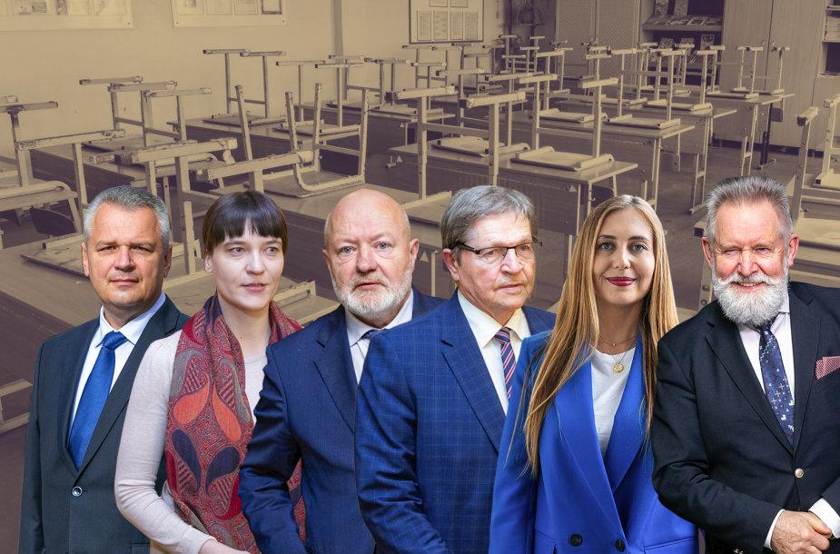 Vigilijus Jukna, Eugenijus Jovaiša, Radvilė Morkūnaitė-Mikulėnienė, Eugenijus Gentvilas, Ieva Pakarklytė ir Algirdas Sysas