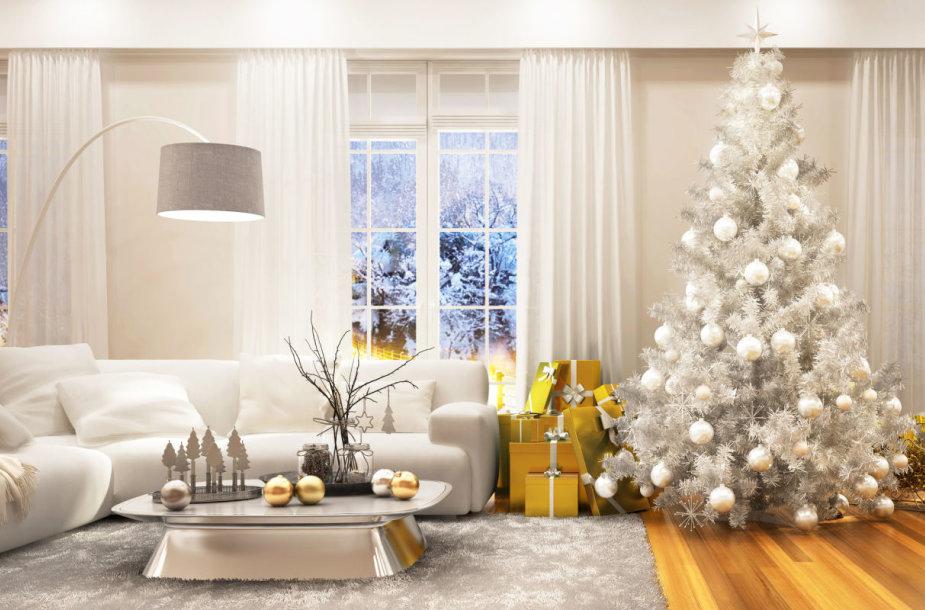 Kalėdoms papuošti namai