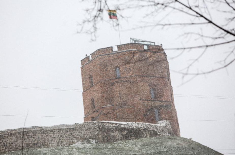 Trečiadienį Vilniuje gausiai sninga