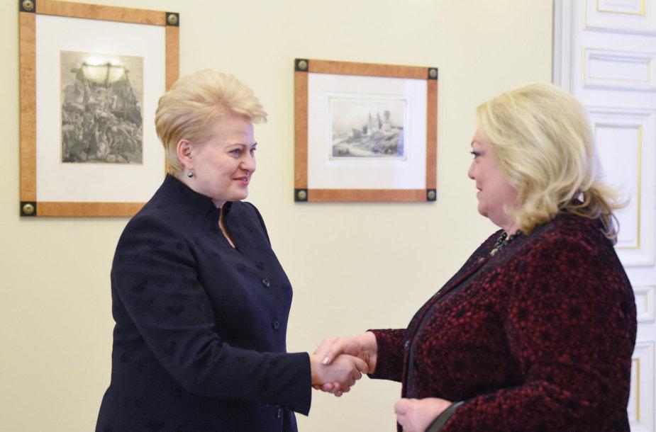 Dalia Grybauskaitė susitikime su užsienio ambasadoriais Lietuvai Vilniuje