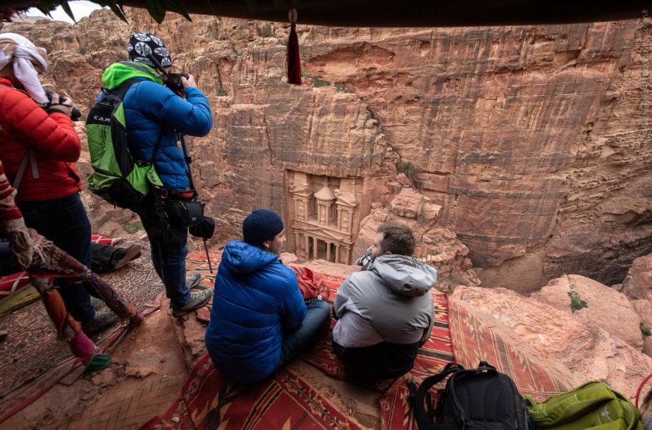 Petra - vaizdas į apačioje esantį Iždą (nuotr. Giedriaus Akelio, spot-on.lt )