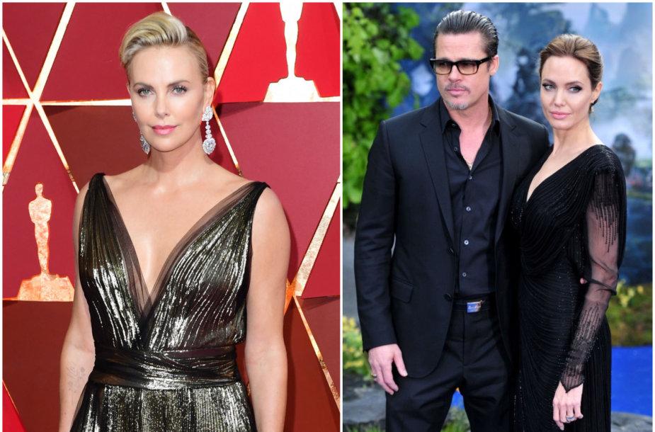 Charlize Theron, Bradas Pittas ir Angelina Jolie