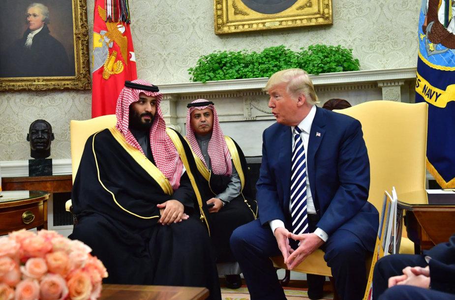 Mohammedas bin Salmanas ir Donaldas Trumpas