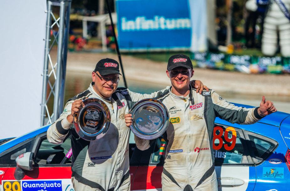 Deividas Jocius ir Donatas Zvicevičius dalyvavo Meksikos WRC