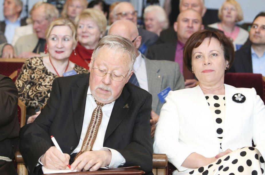 Vytautas Landsbergis ir Rasa Juknevičienė