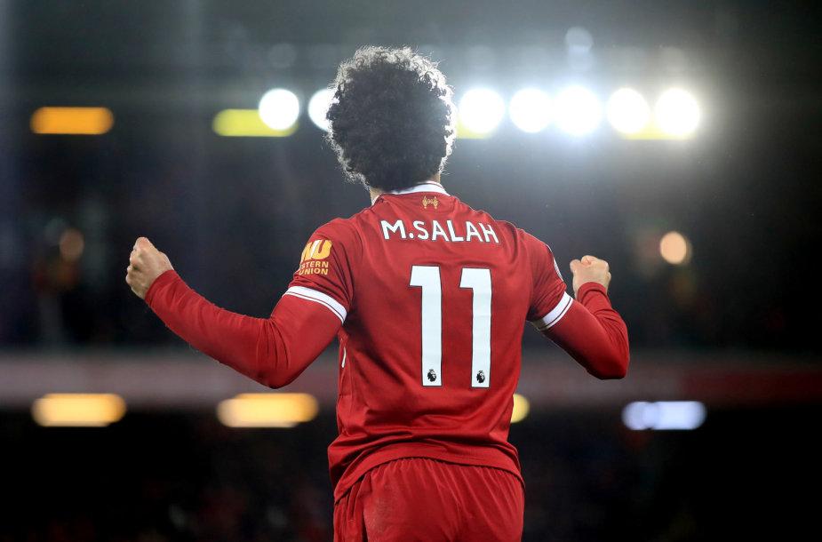 Mohamedas Salah įmušė dukart