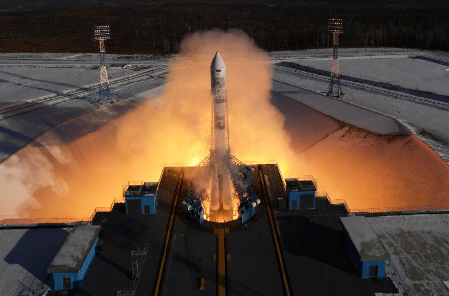 """Raketos """"Sojuz"""" startas iš """"Vostočnyj"""" kosmodromo"""