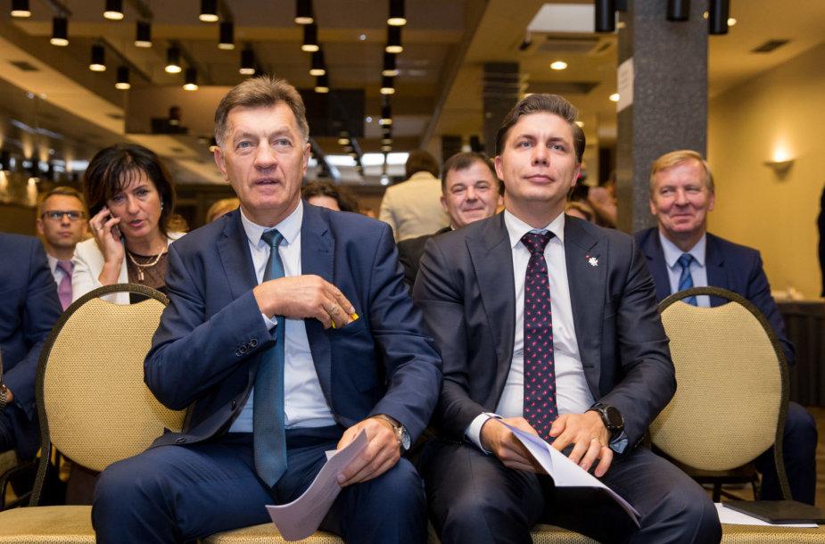 Algirdas Butkevičius ir Mindaugas Sinkevičius