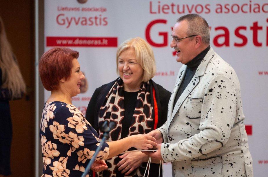 """Lietuvos asociacijos """"Gyvastis"""" veiklos 25 – mečio minėjimo akimirka"""