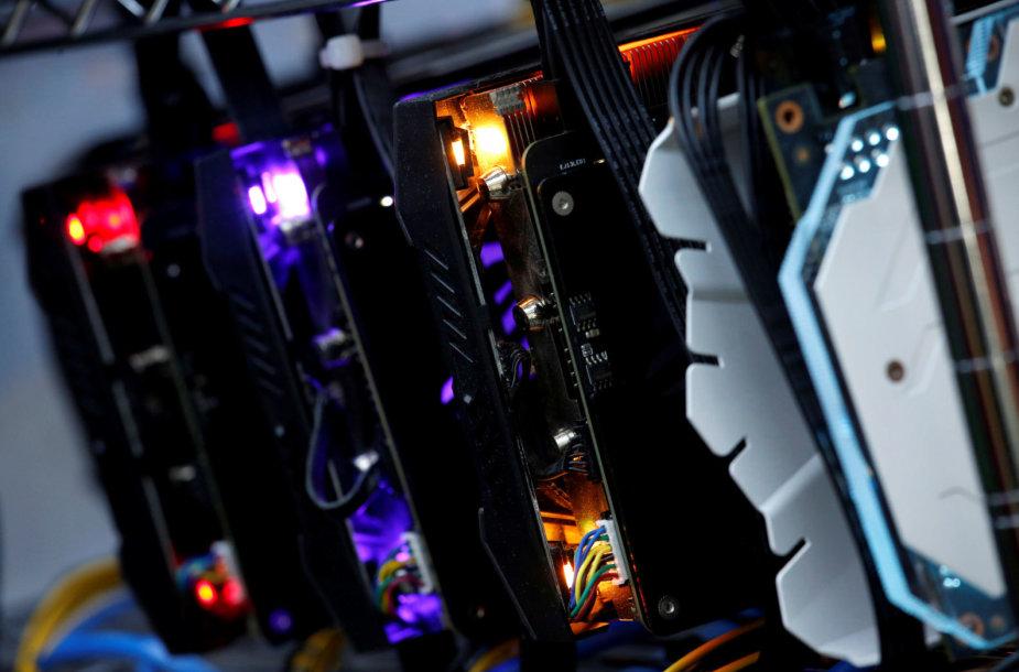 Galingiausios vaizdo plokštės naudojamos kriptovaliutoms kasti