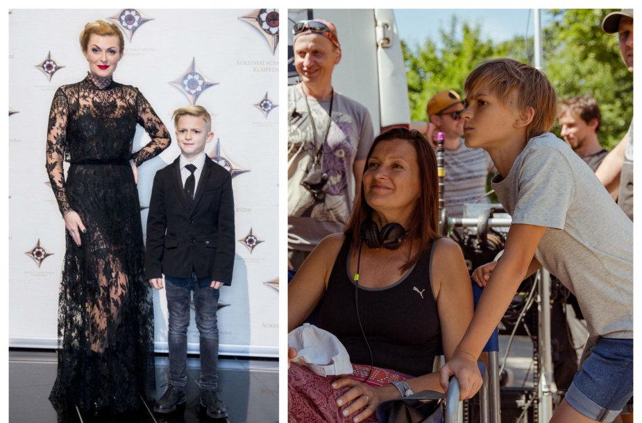 """Eglė Jackaitė su sūnumi Elijumi ir """"Drugelio širdis"""" filmavimas"""
